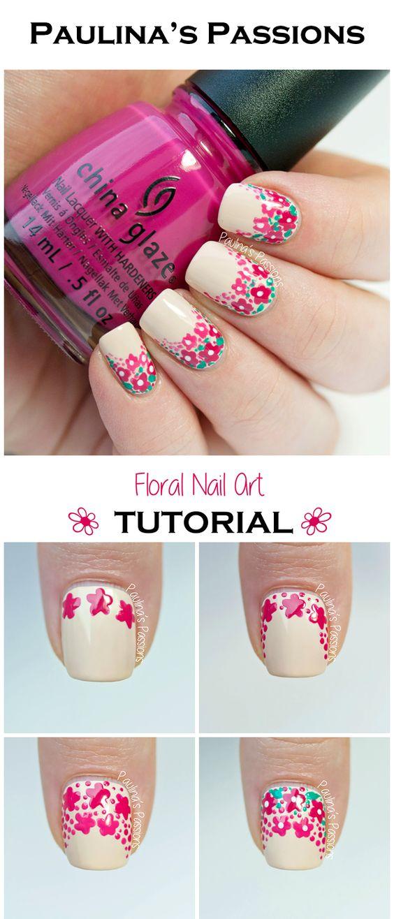 Cute Fl Nail Art
