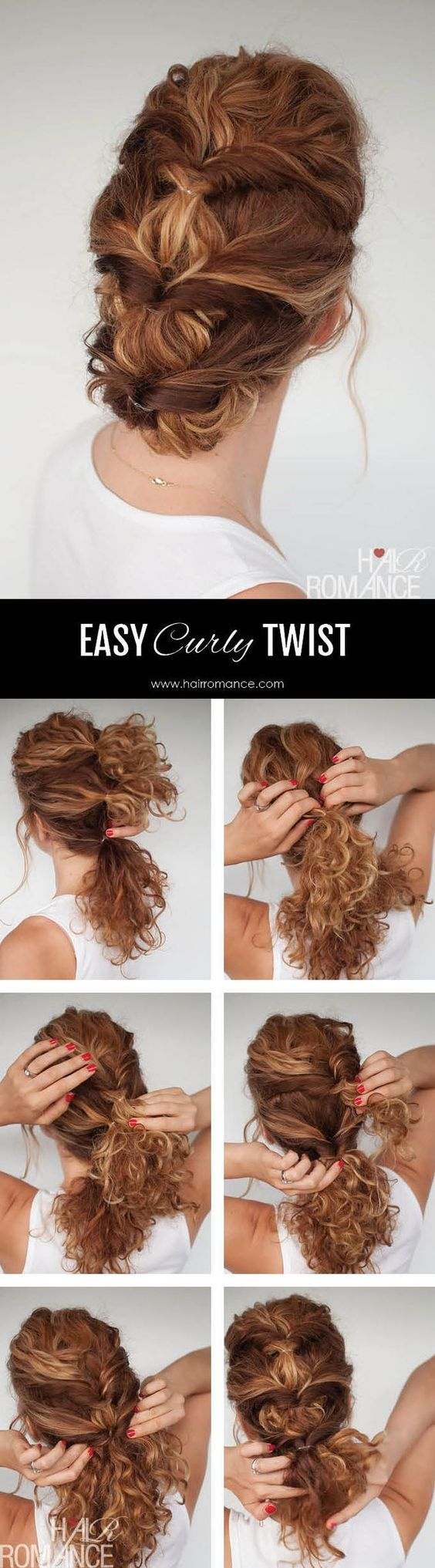16 easy updo hair tutorials for the season pretty designs cute updo for curly hair pmusecretfo Images
