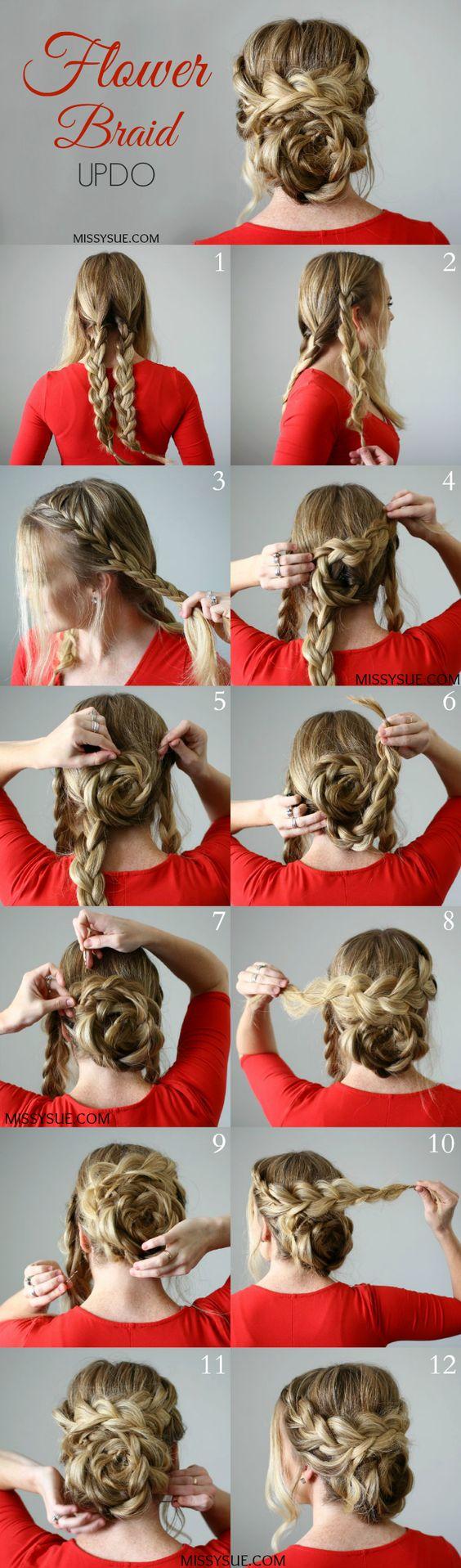 12 Easy Updo Hair Tutorials for the Season - Pretty Designs