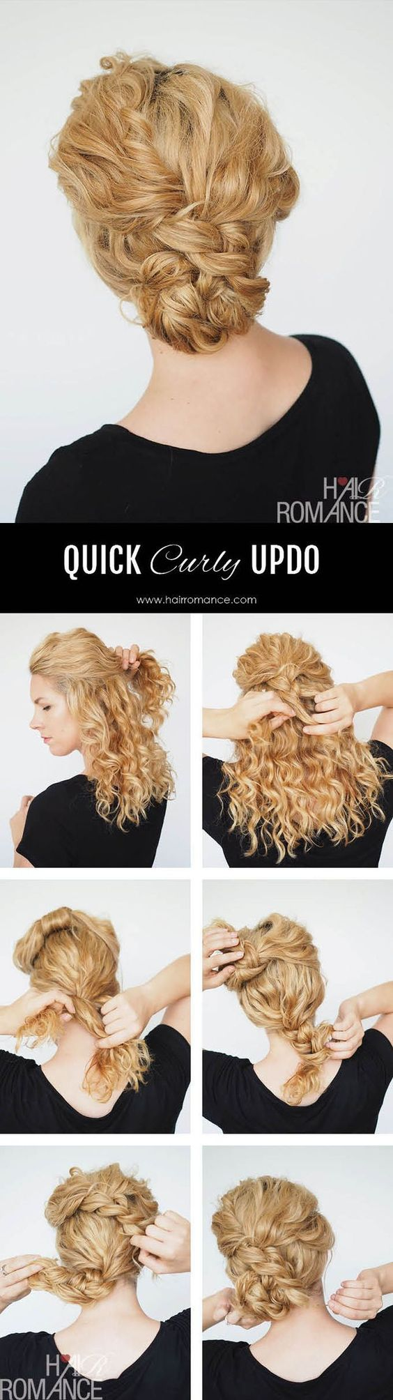 Quick Updo For Natural Curly Hair Pretty Designs
