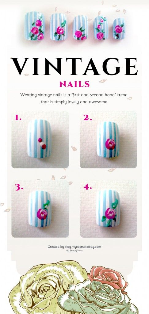 15 nail tutorials to paint floral nails pretty designs for Pretty designs to paint