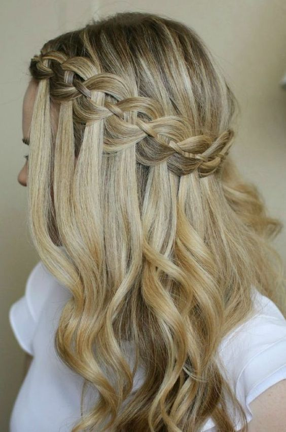 Waterfall Hair With Braids