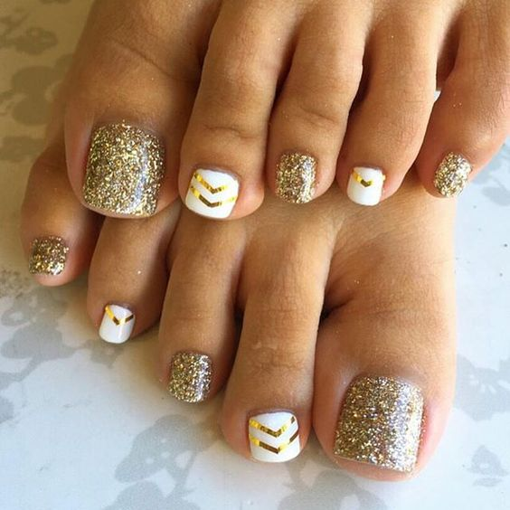 20 Adorable Easy Toe Nail Designs 2017 Pretty Simple Toenail Art