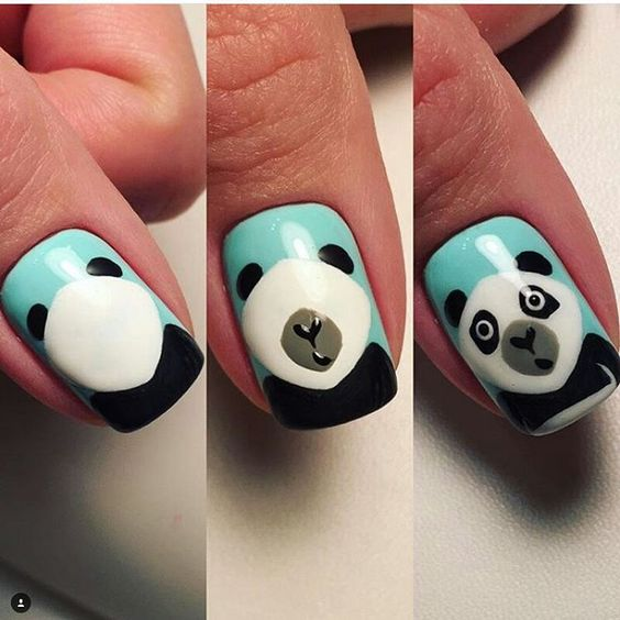 Panda Nail Art: 18 Animal Themed Nail Tutorials