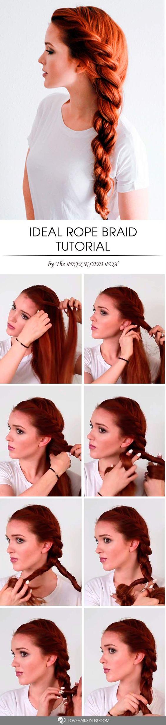 15 Frisuren von Seilzöpfen inspiriert