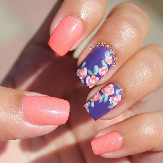 29+ Tumblr Nail Art, Designs, Ideas   Design Trends ...  Purple And Pink Nails