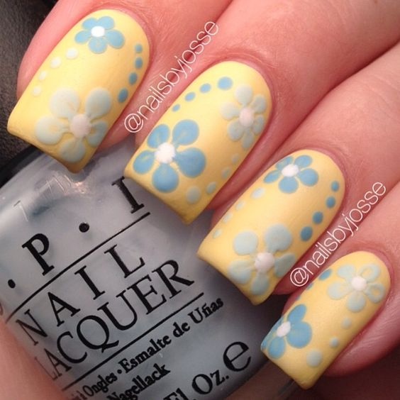 15 Lovely Nail Designs for Spring Nails  Yellow nail syndrome Woodworking spring Organ systems Nail care Nail lovely Leukonychia Ironmongery flower Fasteners designs