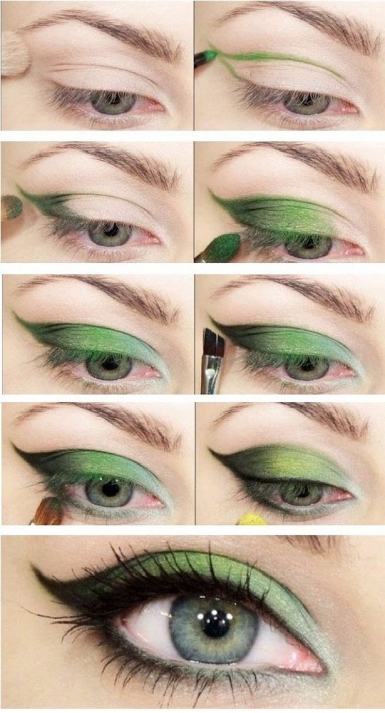 Makeup for Green Eyes - green eyes makeup tutorials