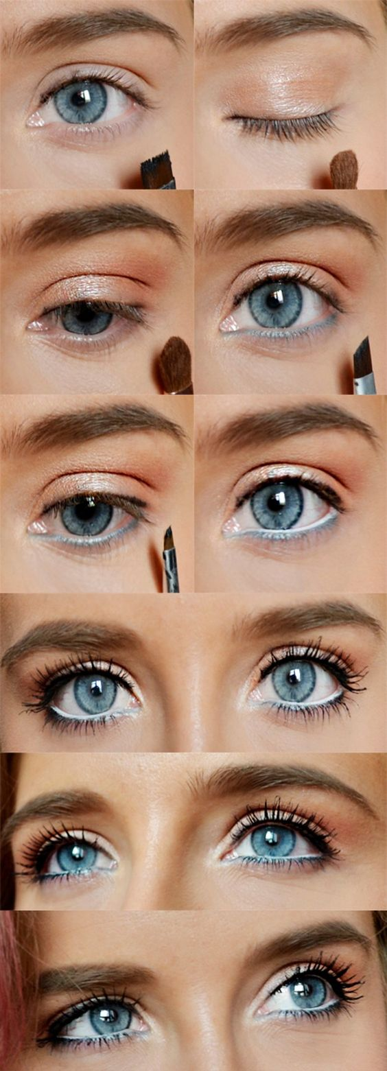 how to rock makeup for blue eyes - easy makeup tutorials