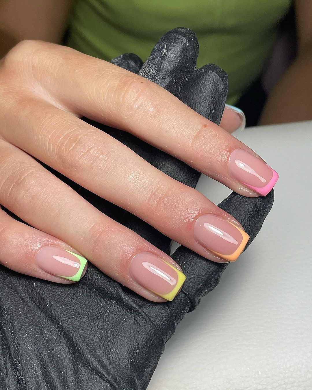 colored French Manicure Designs