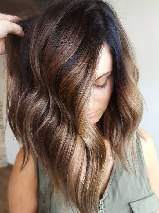 41 balayage hairstyles 2018 balayage hair color ideas - Balayage braun caramel ...