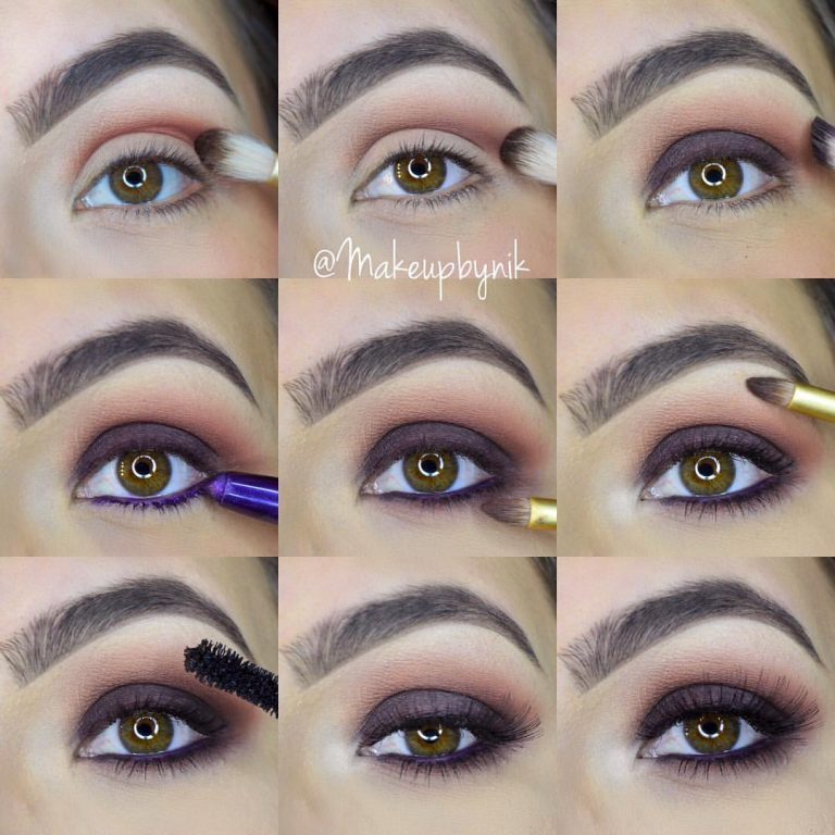 Step by step makeup for brown eyes
