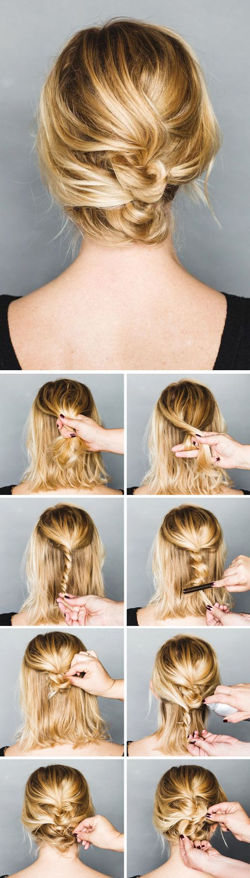 11 Pretty Simple Bun Hairstyles Tutorials 11 - Pretty Designs