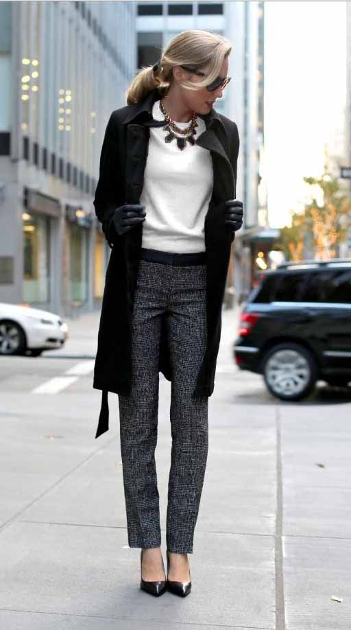 18 Stylish Office Outfit Ideas for Winter 2018