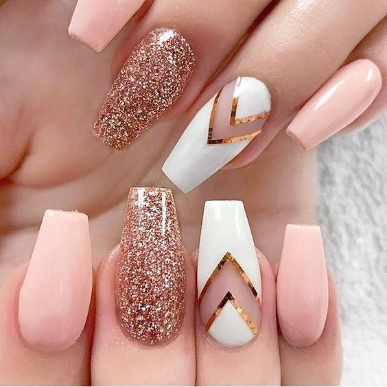 21 Beautiful Nail Designs for Long Nails 2018 - 21 Beautiful Nail Designs For Long Nails 2018 - Pretty Designs