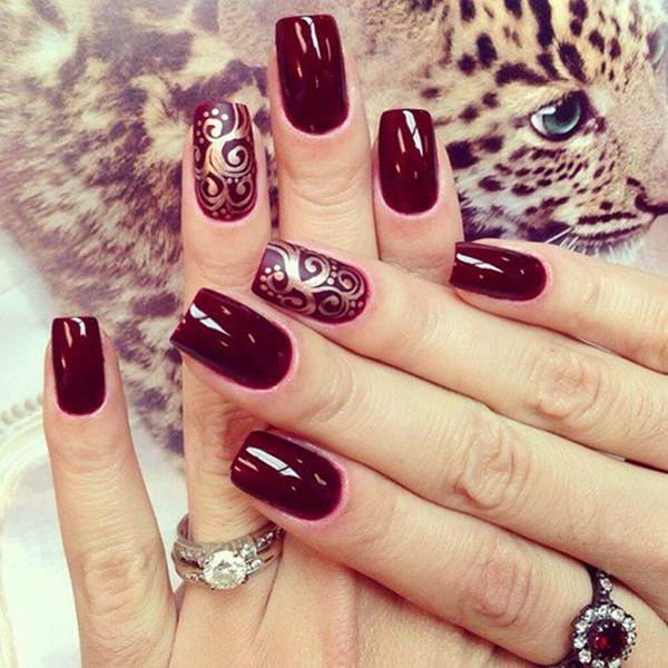 30 Amazing Burgundy Nail Designs For Women 2018