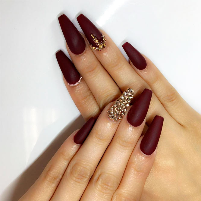 ... 30 Amazing Burgundy Nail Designs for Women 2018 ...