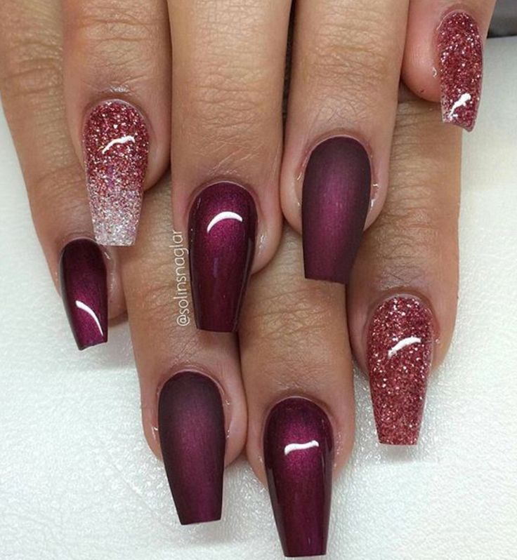 30 Amazing Burgundy Nail Designs for Women 2018 - Pretty Designs