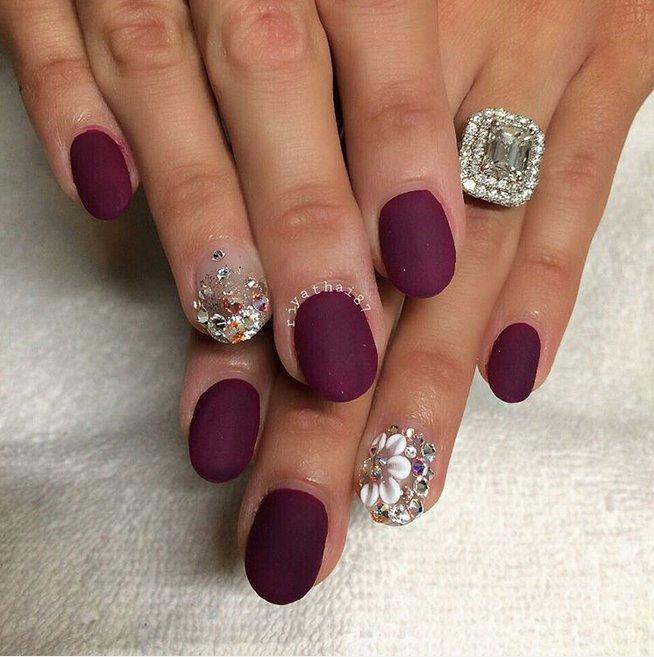 30 Amazing Burgundy Nail Designs for Women 2018
