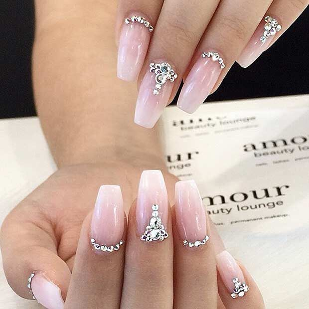 ... 35 Glamorous Wedding Nail Art Ideas for 2018 - Best Bridal Nail Designs ... : nail decorating ideas - www.pureclipart.com