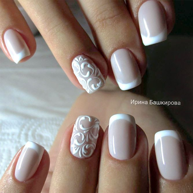 35 Glamorous Wedding Nail Art Ideas for 2018   Best Bridal Nail