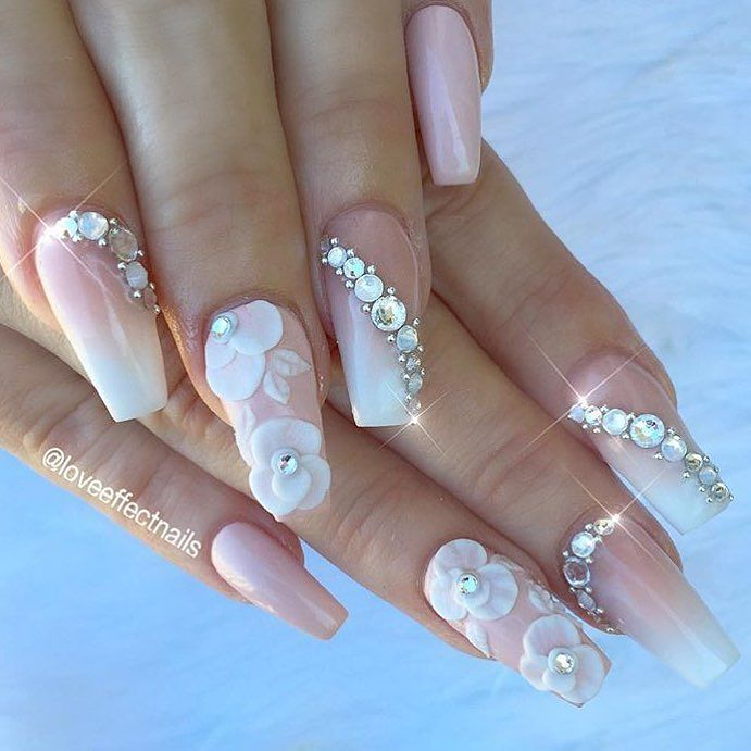 Nails For Wedding: 35 Glamorous Wedding Nail Art Ideas For 2019