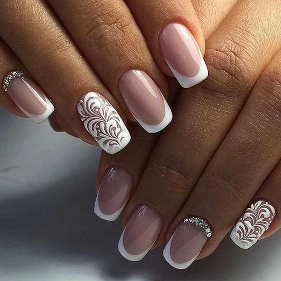 35 Glamorous Wedding Nail Art Ideas for 2018 - Best Bridal Nail ...