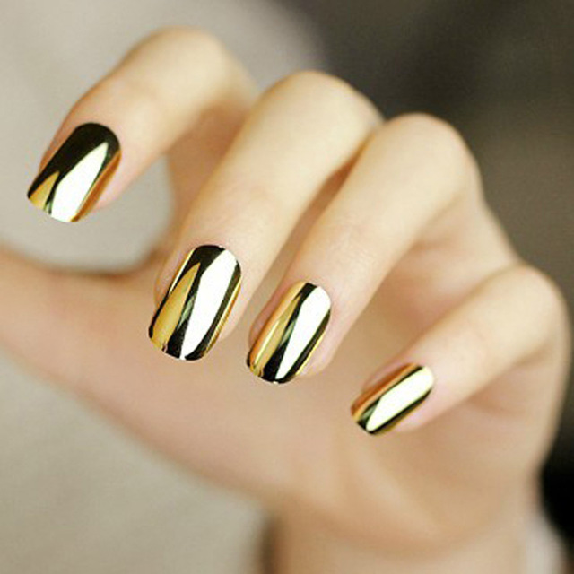 Green Home Design Ideas: 40 Best Metallic Nail Designs For 2020