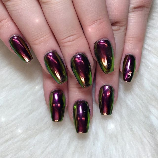 40 Best Metallic Nail Designs For 2018 Nail Art Ideas