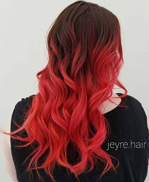 Haarfarbtrends für 2019: Rote Frisuren in Ombre