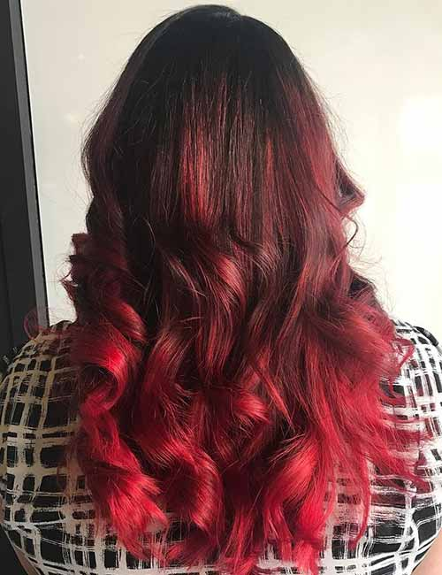 hair color trends for 2018 red ombre hairstyles pretty. Black Bedroom Furniture Sets. Home Design Ideas