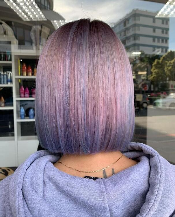 colored blunt bob hairstyle