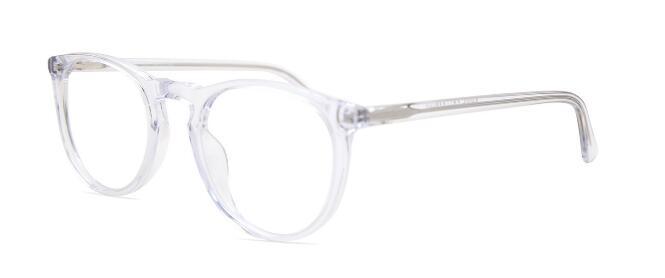 transparent framed glasses